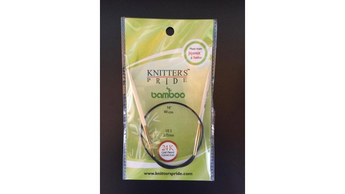 Aig. Circulaire Fixe KNITTER'S PRIDE bamboo