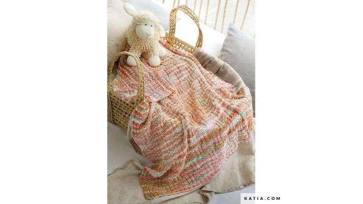 Couverture bébé en tricot Malvidas